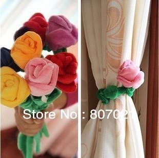 Color velvet rose flower vase valentine gift in curtain buckle home decoration