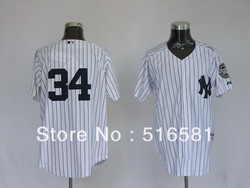 Free shipping Wholesale Baseball Jerseys # 34 Hughes White Mens Baseball Jerseys Size:48-56 Mix order(China (Mainland))