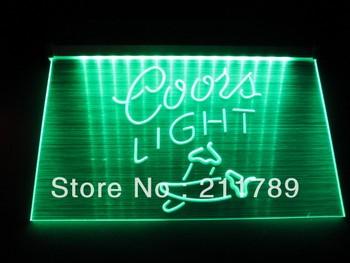 HW1403 Coors Light Chill Logo Beer Bar Pub Store Neon Hairline Light Sign LED led