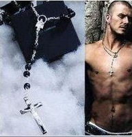 Double ! beckham d-g cross necklace male necklace men's necklace