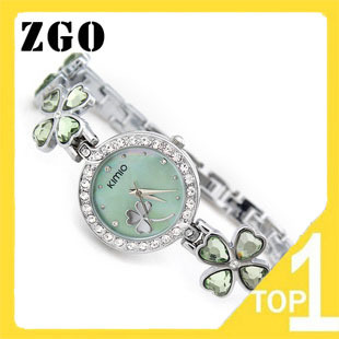 Dropship! free shipping! Wholesale top brand quartz watch korean fashion watch Lucky grass bracelet Diamond wrist watch 456(China (Mainland))
