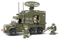 Best gift Building Block Set SlubanB0300 Army-radar car     Model Enlighten Construction Brick Toy Educational  Toy for Children