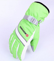 Free Shipping Foreign trade, the new lady winter cuff with thickened motorcycle riding ski gloves