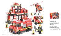 gift Building Block Set SlubanB0226 rescue operation    Model Enlighten Construction Brick Toy Educational  Toy for Children