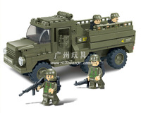 Building Block Set SlubanB0301 army personnel carriers    Model Enlighten Construction Brick Toy Educational  Toy for Children