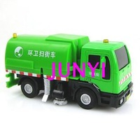 Alloy road sweeper model sprinklina car alloy sweeper sanitation trucks garbage truck