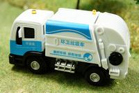 Alloy car models garbage truck toy clean car sanitation trucks eco-friendly car acoustooptical