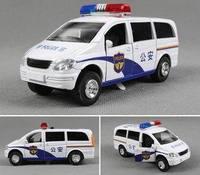 Alloy car models alloy police car model 110 squadrol acoustooptical WARRIOR