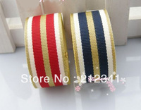 Free shipping 7/8'' 22mm  Navy wind stripe ribbon hair bows printed ribbon Mixed 2 colours