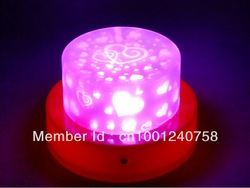7 Colors Changing LOVE Birthday Decorations Gifts Projection Electronic Candle Like Cake LED Night Light MIN.ORDER $15(China (Mainland))
