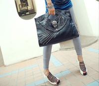 2012 fashion skull handbag big rivet female bags