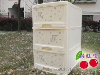 Storage cabinet three drawers cabinet e103 dual-order box cartoon box storage box