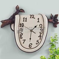 Muted fashion creative surreal three-dimensional art resin wall clock free shipping