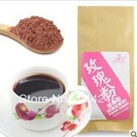 Best price  10pcs  The premium rose pink roses mask powder / edible skin rejuvenation beauty 50g / bag QS certification