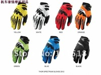 2012 Men's Motorcycle Racing Thor Spectrum Gloves Motorbike Cycling Biker Bicycle Sports Gloves Green Free shipping