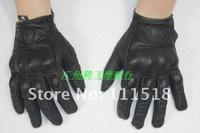 Icon Pursuit Stealth Leather Gloves/Genuine Leather Motorcycle Racing Gloves/Motorcycle Riding Gloves/Motorbike Glove[GV22]
