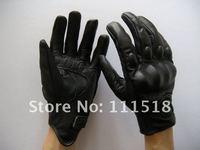 Icon Pursuit Stealth Leather Gloves/Genuine Leather Motorcycle Racing Gloves/Motorcycle Riding Gloves/Motorbike Glove[GV22] uilk