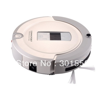 ( France free shipping) 4 In 1 Home Use Robot Vacuum Cleaner,LCD Touch Screen,Schedule,2-Way Virtual Wall,AutoCharge