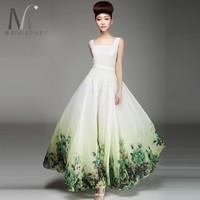 2014 chiffon skirt twinset chiffon fashion Casual Dress full maxi Casual Dress lyq122-1 print vintage dot Geometry maxi print