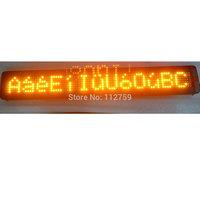 Semi-outdoor led display, LED bus display sign,LED car display sign, P7.62 7*80 , yellow lamp,English software 9-36V or 5V