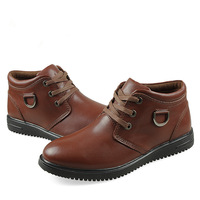 Free shipping, Fashion, outdoor, winter, thicker velvet, leather, large sizeMartin, male cotton-padded shoes, snow boots