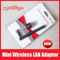 Mini 150Mbps 150M USB WiFi Wireless Network Card 802.11 n/g/b LAN Adapter RT5370 Chipset with Antenna Drop Shipping