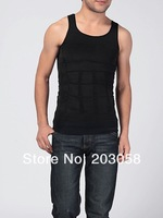 Men Slimming Shirt Weight Vest Shaping Undergarment Elimination Of Male Beer Belly Body Shaping Garment 50PCS/lot+free shipping