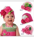 Free shipping!! New style retail fashion DOOMAGIC children hat with big flower,chirldren flower hat