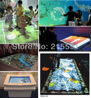 Interactive floor projection system for advertising. in 2013