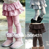 Free Shipping 2013 Autumn Cotton Thin Fashion Legging For Girls Legging Tights Pants 4Colors