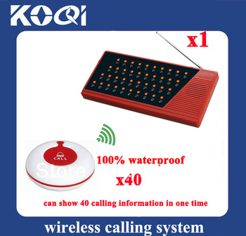 Wireless transmission system Wireless waiter call system 100% waterproof Can show 40 tables in one time