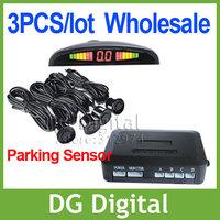 wholesale 3pcs/lot 4 sensors/ LED Display & BiBi Sound / Car Reverse Radar/ Parking Sensor +by EMS  Free Shipping