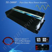 2000W Pure Sine Wave Power Inverter,DC/AC Inverter For Wind/ Solar PV System,DC12/24 to AC110-120V, AC220- 240V,CE Approval