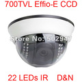 22 LEDs IR 700TVL Effio-E SONY CCD Indoor Security Surveillance Dome CCTV Camera