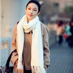 Passeris ultra long tassel all-match scarf autumn and winter female yarn coarse bar knitted thermal cape(China (Mainland))