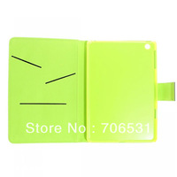 Three In 1 Color Inner Card Slot Leather Case for iPad Mini