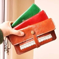1 pcs Free shipping  Multifunctional Ladies detachable PU Leather Clutch Wallet+ Purse Bag for iPhone/Cellphone