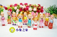 Free shipping lovely promotion doll, small 10.5cm fashion doll,Birthday gift for children
