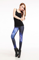 Galaxy Series Hotsale! Fashion Blue Printed Lightning Leggings LB13248 China Post & Epacket Free Shipping Drop Shipping