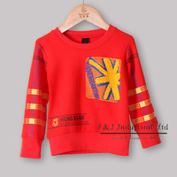 2013 Wholesale Baboy Hoodies Red Tee Shirt Infant Wear For Kids Clothes Ready Stock BT21204-06^^EI