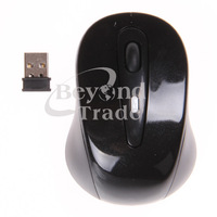 Wholesale ! 2.4Ghz 1600DPI Black Wireless Mouse Computer Desktop Laptop Notebook Netbook PC Free Shipping