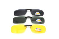 Tr90 Driving Night vision Polarized easy clip on sunglasses glasses flip up