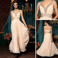 Free Shipping DORISQUEEN new arrival original design gorgeous V-neck fashion formal wear evening dress 30798