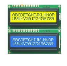 Free shipping, 2pcs, 1pcs Blue + 1pcs Yellow Backlight 1602 16x2 HD44780 Character LCD Display Module LCM