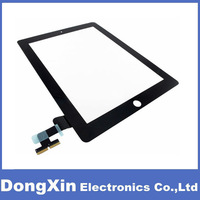 10PCS X Black /White Touch Screen Digitizer Glass Panel (free adhesive) Replacement for iPad 2