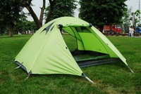 2-3 Person Double Layer Aluminum Alloy Outdoor Camping  hiking Tent Traveling Tents waterproof windproof tents