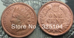 1877 Indian Head Cent COPY FREE SHIPPING(China (Mainland))