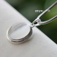 Free Shipping Nice 925 Pure Silver pendants Natural Stone Pendant