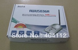 Free shipping!!Latest High Power ALFA Wireless Network Adapter AWUS036H 1000mW wifi usb adapter(China (Mainland))