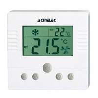 Large LCD 12V or 24VAC TFY-308 Thermostat with backlight for fan coil and motorized valve control Free Shipping